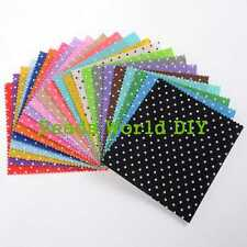 1 Set (20 Colors) Square Polka Dot Felt Fabric DIY Scrapbooking Craft 15cm