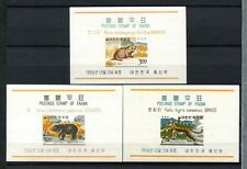 South Korea 1966 SG#676-8 Fauna, Animals MNH M/S Set #A68691