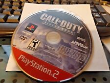 Call of Duty: Finest Hour (Sony PlayStation 2, 2004 Greatest Hits) Disc only
