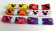 6m Ribbon Bundle Pack - Printed Grosgrain - Cartoon Mouse - 16mm - Mixed Colour