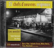 2 CD 25T LES ANNÉES SAINT-GERMAIN DES PRES GRECO/BORIS VIAN/CLAUDE LUTER...NEUF