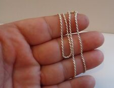 ITALIAN MADE 925 STERLING SILVER DESIGNER ROPE CHAIN /18 INCH LONG/ 1.5MM THICK
