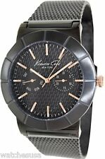 Kenneth Cole Men's KC9312 Black Stainless-Steel Quartz Watch