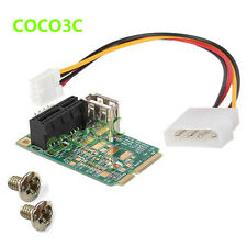 Mini PCIe To PCI express 1x slot adapter riser card PCI-e test tool Power Supply