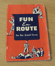"1940's WWII Booklet~""FUN En ROUTE""~Travel Games/Tricks/Magic/Brain Teasers~"