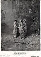 PURGATORIO: Le Virtù Teologali: Fede,Speranza,Carità. Dante.Divina Commedia.1880