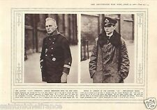 Officer Prisoner Captain Breithaupt Zeppelin Germany Gun WWI 14 18 PLANCHE 1916