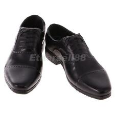 """1:6 Black Dress Shoes Accessories for 12"""" BBI Dragon DID Male Action Figures"""