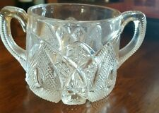 VINTAGE ♢CLEAR GLASS ♢ OPEN SUGAR BOWL♢♢ BEAUTIFUL PATTERN