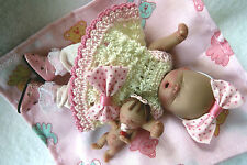 "Ooak baby girl , Rosalind, 4.5"" jointed full sculpt, Artist Original Sculpt"