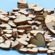 100pcs Rustic Wood Wooden Love Heart Wedding Table Scatter Decoration Crafts NEW
