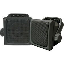 """Studio Acoustics 3"""" Indoor Outdoor Universal Speakers Waterproof SA300B Black"""