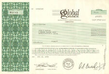Global Intellicom, Inc 1995 Jersey City New Jersey old stock certificate share