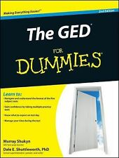 The GED For Dummies, Shuttleworth, Dale E., Shukyn, Murray, Very Good Book