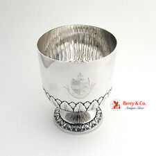 Antique Scottish Crest Goblet Chalice Cup Sterling Silver 1890