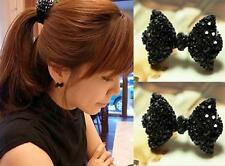 Fashion Women Cute Crystal Rhinestone Bow Ear Stud Bowknot Tie Earrings