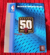 Official NBA 1966 2016 Chicago Bulls 50th Anniversary small black patch