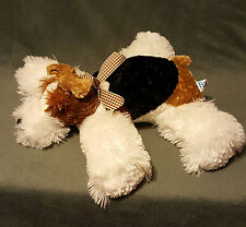 "12"" Mary Meyer Flip Flops Schnauzer Beanie Plush Bow Puppy Dog Stuffed Animal"