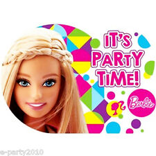 BARBIE Sparkle INVITATIONS (8) ~ Birthday Party Supplies Stationery Cards Notes