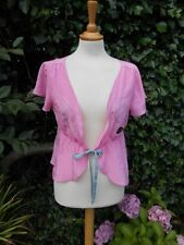 Matthew Williamson 100% Pure Silk Pink jacket sequins12 BNWT Nice 4 Mothers day