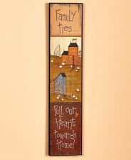 Folk Wall Art Family Ties Dining Living Room Rustic Primitive Country Home Decor