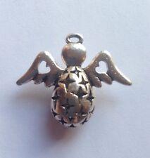 1 x Angel Star cuore colore Argento anticato Angelo Charm Ciondolo 38mm x 29mm