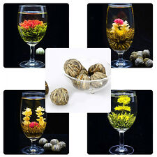 4 Balls Different Handmade Blooming Flower Green Tea Deft