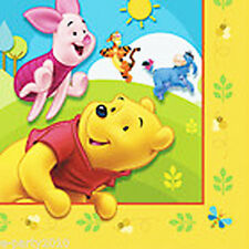 WINNIE THE POOH  and FRIENDS LUNCH NAPKINS (16) ~ Birthday Party Supplies Large