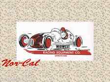 Midwest Racing Equipment Cleveland Ohio Sticker Decal Auto Hot Rat Rod Car Speed
