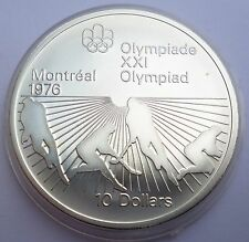 Canada 10 Dollars 1976 Silver coin UNC Field hockey Montreal Olympics 1976