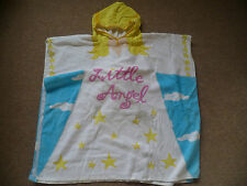 Girl's Angel Over the Head Poncho With Hood Towel Ideal for Beach Swimming Pool