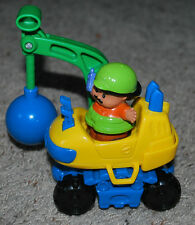 Fisher-Price Little People Toys Construction Demolition Tractor & Figure Sounds