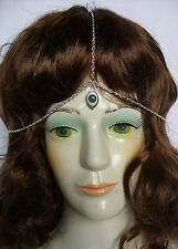 A * Kabbalah Lucky Evil Eye * Charm, 3 Strand Head Chain,HEAD PIECE Headband