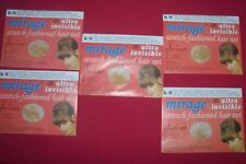 Lot 5 (10)Jac-O-Net Mirage Invisible Hair Net Medium Light Brown/Blond Hair #146