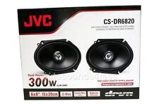 """JVC CS-DR6820 300 Watts 6"""" x 8"""" 2-Way Coaxial Car Audio Speakers 6""""x8"""" New"""