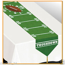 FOOTBALL Tailgate Super Bowl Party Decoration Paper FOOTBALL FIELD TABLE RUNNER