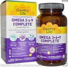 NEW COUNTRY LIFE OMEGA 3-6-9 ULTRA CONCENTRATED GLUTEN FREE DIETARY SUPPLEMENT