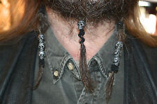 1 Skull Hair Bead Beard jewelry skull dreadlocks KNIFE sheath HALLOWEEN