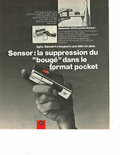PUBLICITE ADVERTISING 054   1973  AGFA GECAERT  appareil photo  AGFAMATIC SENSOR