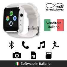 endubro SMARTWATCH X6 BLUETOOTH, FOTOCAMERA, SUPPORTO SIM/TF PER ANDROID-BIANCO