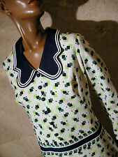 CHIC VINTAGE ROBE 1970 VTG DRESS 70s MOD GRAPHIC KLEID 70er ABITO RETRO  (42/44)
