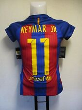 BARCELONA 2016/17 S/S LADIES HOME SHIRT NEYMAR JR 11 BY NIKE SIZE SMALL UK 8-10
