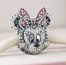 AUTHENTIC Pandora Disney Minnie Mouse 2015 Limited Edition Pave Charm Bead New