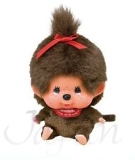 NWT Japan Big Face Monkey MCC Monchhichi Girl Stuffed Plush Doll by Sekiguchi