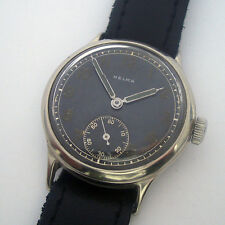 Rare Military Wristwatch German Army HELMA DH of period WWII