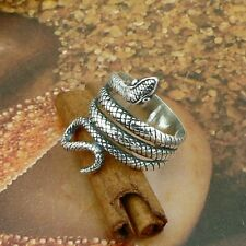 STERLING SILVER NO STONES SERPENT SNAKE  RING .925 NEW JEWELLERY NICKEL FREE