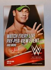John Cena 4x6 Promotional Flyer for the WWE Network tna roy Undertaker Orton