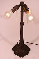 Antique Bradley & Hubbard B&H Three 3 socket Lamp Base Arts and Crafts Nouveau