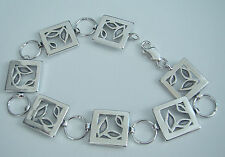 "Stylish, solid 925 Sterling Silver Link Bracelet, 7,8"" (20cm),10,6g (box incl.)"