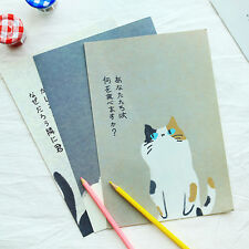 New  Cute Cat set Writing Stationary paper & Envelope for Postcard &Letter